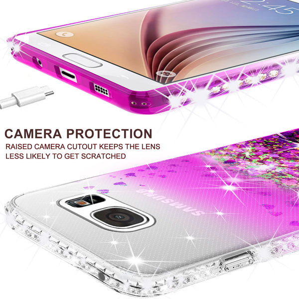 clear liquid phone case for samsung galaxy S7 - purple - www.coverlabusa.com