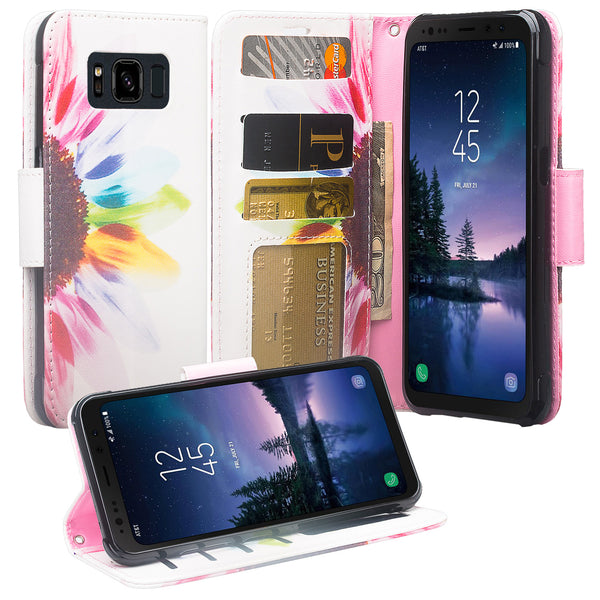 Samsung Galaxy S8 Active Wallet Case - vivid sunflower - www.coverlabusa.com