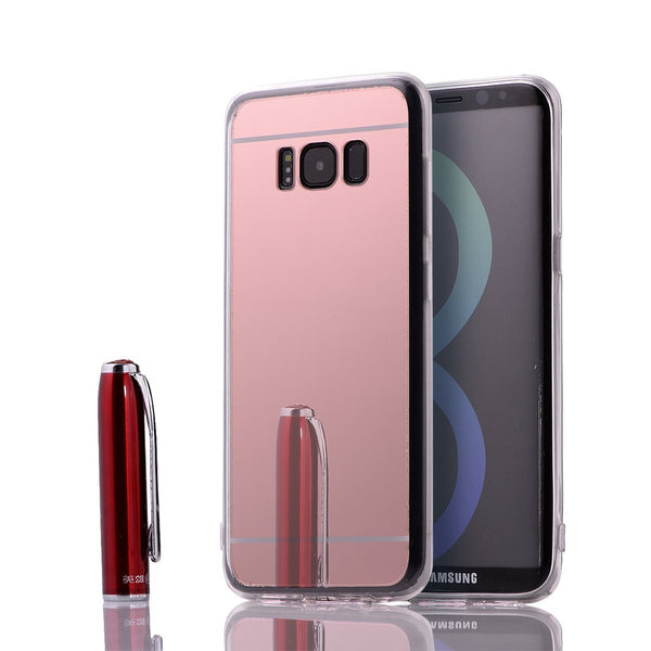 samsung s8 mirror case - rose gold - www.coverlabusa.com