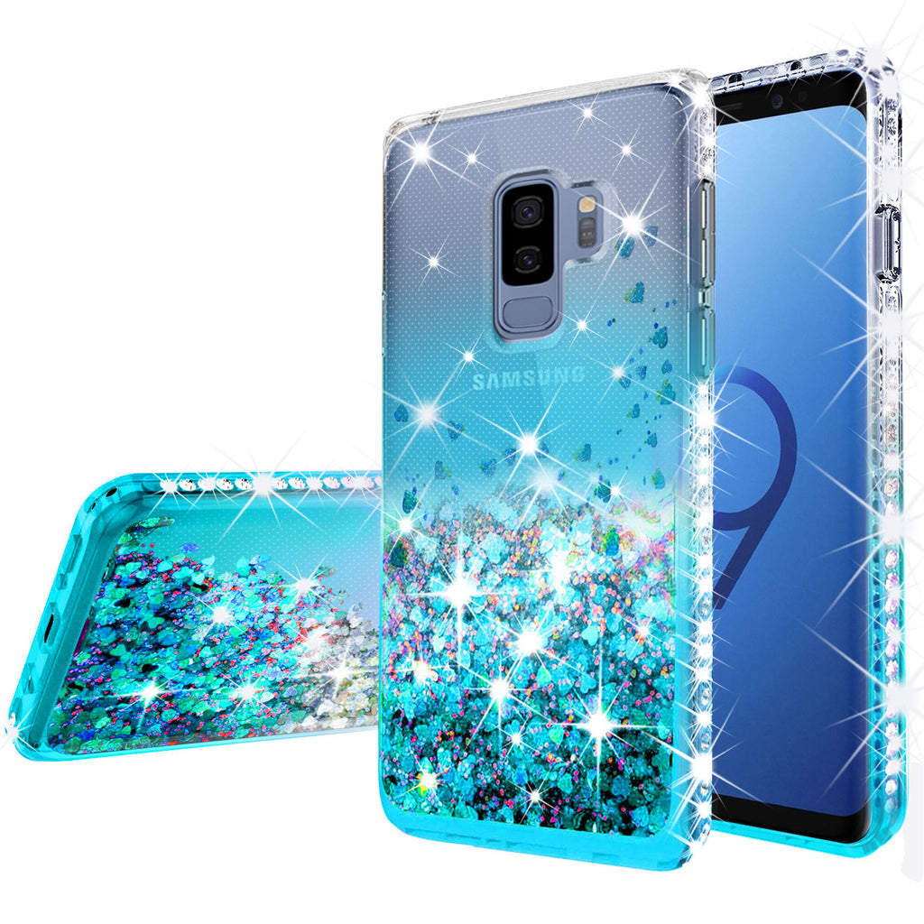 big sale 3423e b167d Samsung Galaxy S9 Plus Case Liquid Glitter Phone Case Waterfall Floating  Quicksand Bling Sparkle Cute Protective Girls Women Cover for Galaxy S9  Plus ...