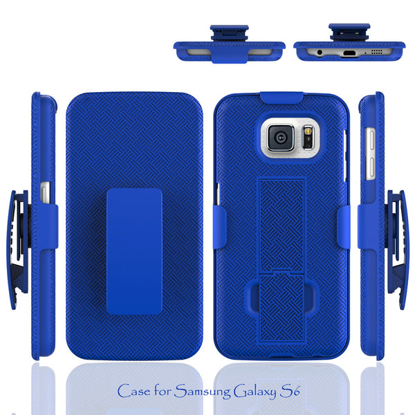 galaxy s6 holster shell combo blue coverlabusa.com