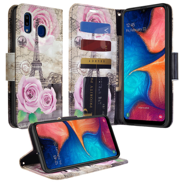 samsung galaxy a10e wallet case - paris - www.coverlabusa.com