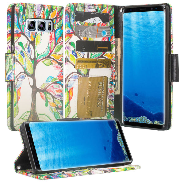 Galaxy Note 8 Wallet Case -vibrant tree - www.coverlabusa.com