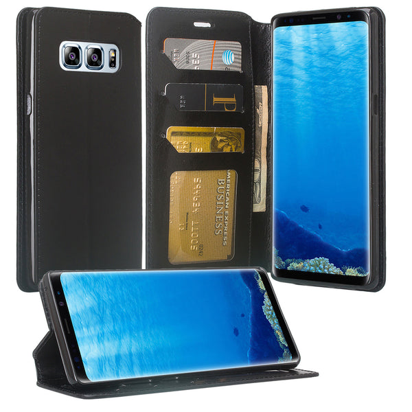 Galaxy Note 8 Wallet Case - black - www.coverlabusa.com