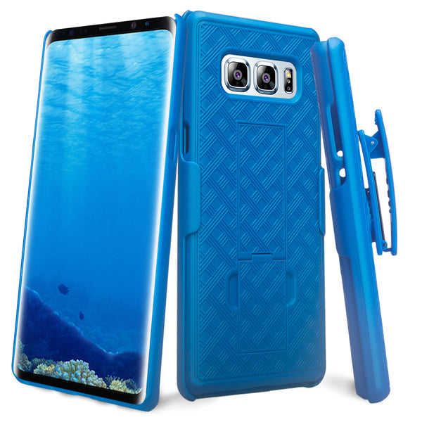 Samsung Galaxy Note 8 holster shell combo case - blue - www.coverlabusa.com