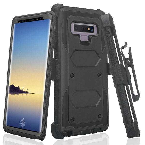 lg stylo 6 heavy duty hybrid holster case - black - www.coverlabusa.com