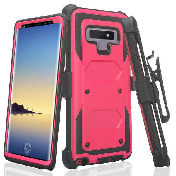 lg stylo 6 heavy duty hybrid holster case - hot pink - www.coverlabusa.com