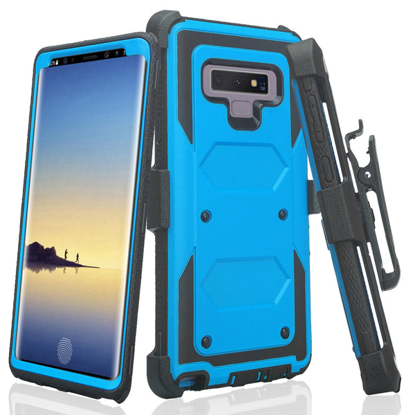 lg stylo 6 heavy duty hybrid holster case - blue - www.coverlabusa.com