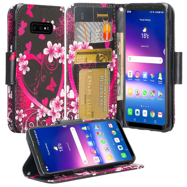 Samsung Galaxy S10e Wallet Case - heart butterflies - www.coverlabusa.com