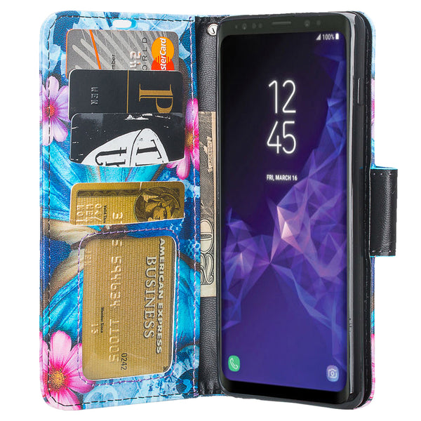 Samsung Galaxy S10 Plus Wallet Case - blue butterfly - www.coverlabusa.com