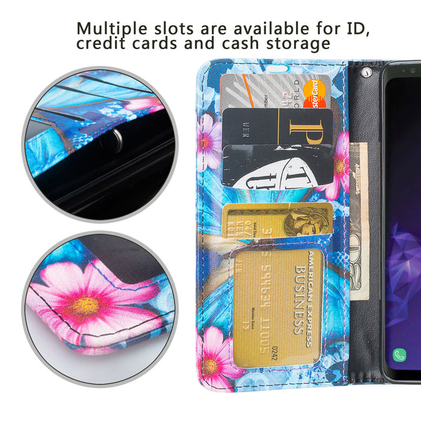 Samsung Galaxy S10 5G Wallet Case - blue butterfly - www.coverlabusa.com