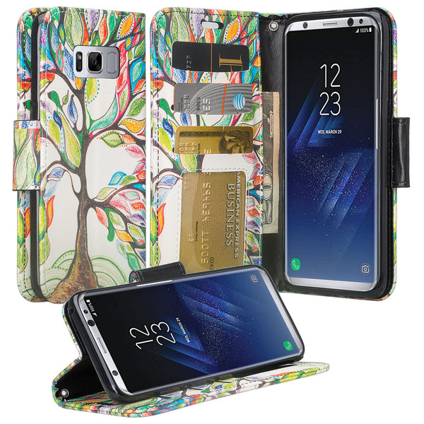 Samsung Galaxy S8 Wallet Case - colorful tree - www.coverlabusa.com
