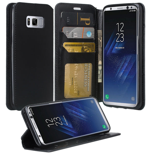 Samsung Galaxy S8 Wallet Case - black - www.coverlabusa.com