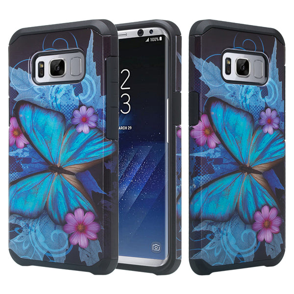 samsung galaxy s8 case -blue butterfly- www.coverlabusa.com