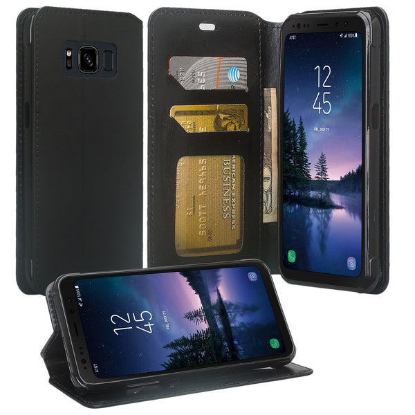 Samsung Galaxy S8 Active Wallet Case - black - www.coverlabusa.com