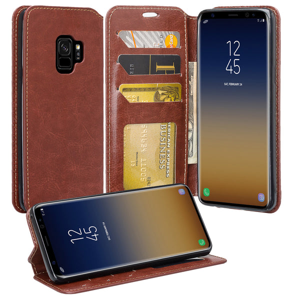 Samsung Galaxy S9 Wallet Case - brown - www.coverlabusa.com