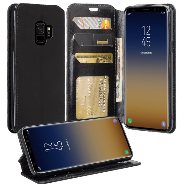 Samsung Galaxy S9 Wallet Case - black - www.coverlabusa.com