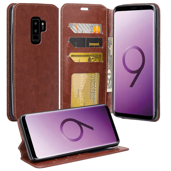 Samsung Galaxy S9 Plus Wallet Case - brown - www.coverlabusa.com
