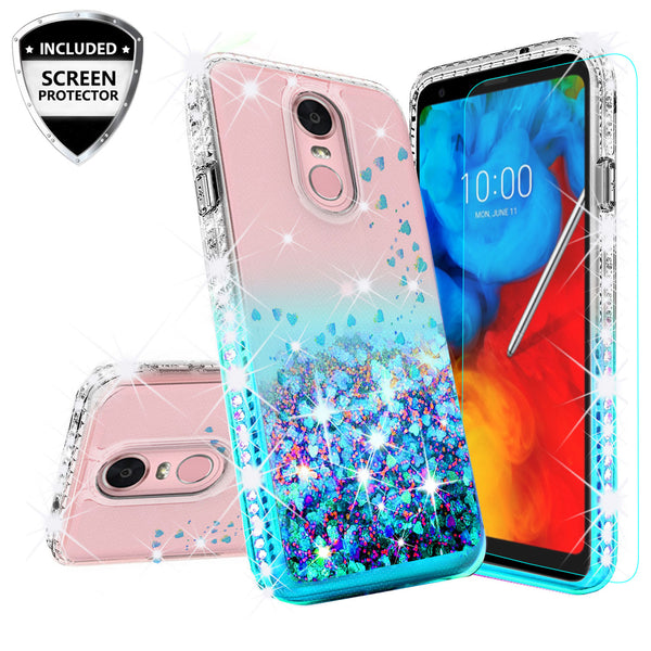 clear liquid phone case for lg stylo 4 - teal - www.coverlabusa.com