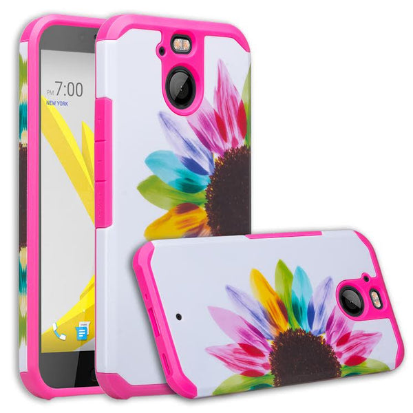 HTC Bolt Case, Hybrid Protective Cover - SUN FLOWER  WWW.COVERLABUSA.COM