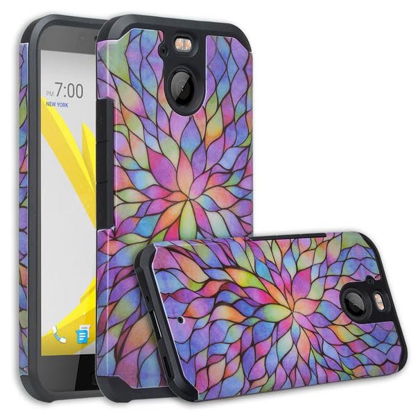 HTC Bolt Case, Hybrid Protective Cover - Rainbow WWW.COVERLABUSA.COM