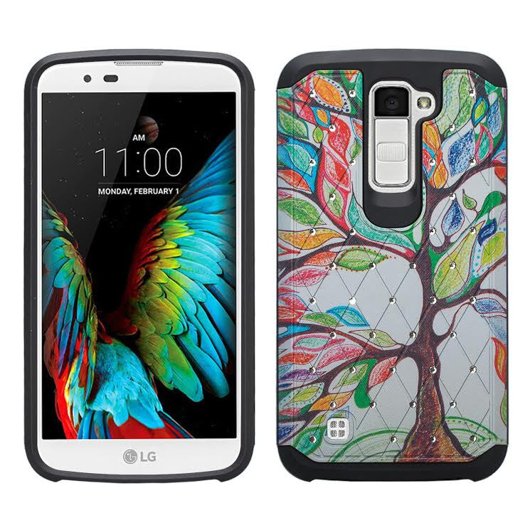 LG K10 / LG Premier LTE Case, Diamond Protective Hybrid cover, Colorful Tree www.coverlabusa.com