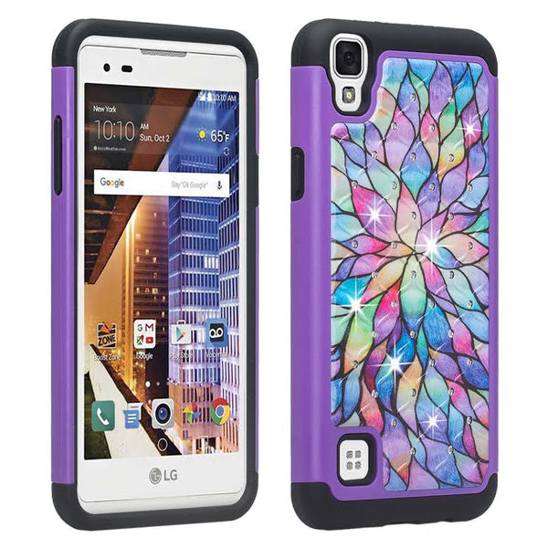 LG Tribute HD Case, Rainbow Flower, WWW.COVERLABUSA.COM
