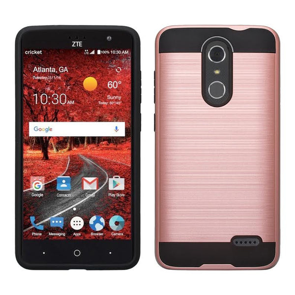 ZTE Grand X 4 Case, ZTE Grand X4 [Shock/Impact Resistant] Hybrid Protective Case Cover for ZTE Grand X 4, rose gold WWW.COVERLABUSA.COM