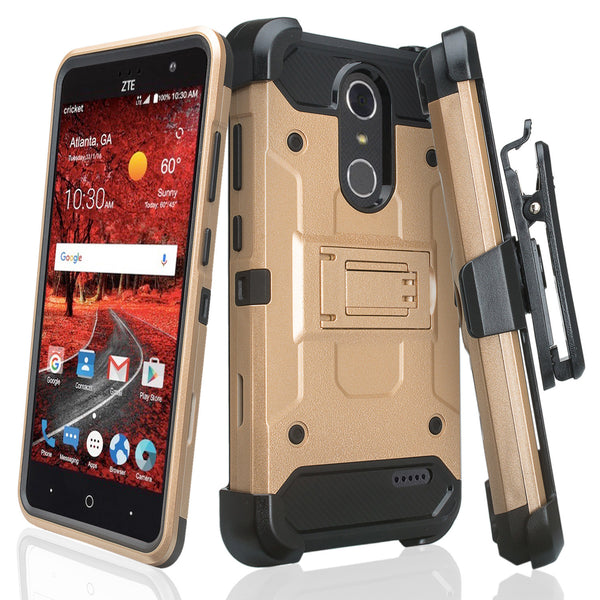 ZTE Grand X4 Hybrid Holster Case - GOLD - WWW.COVERLABUSA.COM