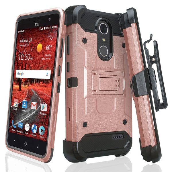 ZTE Grand X4 Hybrid Holster Case - ROSE GOLD - WWW.COVERLABUSA.COM