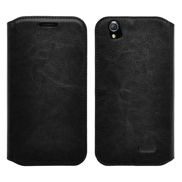 zte grand x leather wallet case - black - www.coverlabusa.com