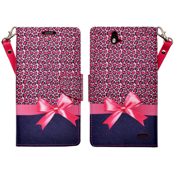 zte grand x max cover, zte z787 wallet case - Cheetah Prints - www.coverlabusa.com