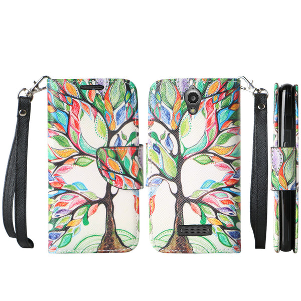 ZTE Obsidian leather wallet case - vibrant tree - www.coverlabusa.com