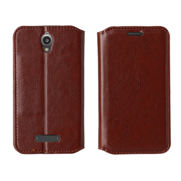 ZTE Obsidian Wallet Case - brown - www.coverlabusa.com