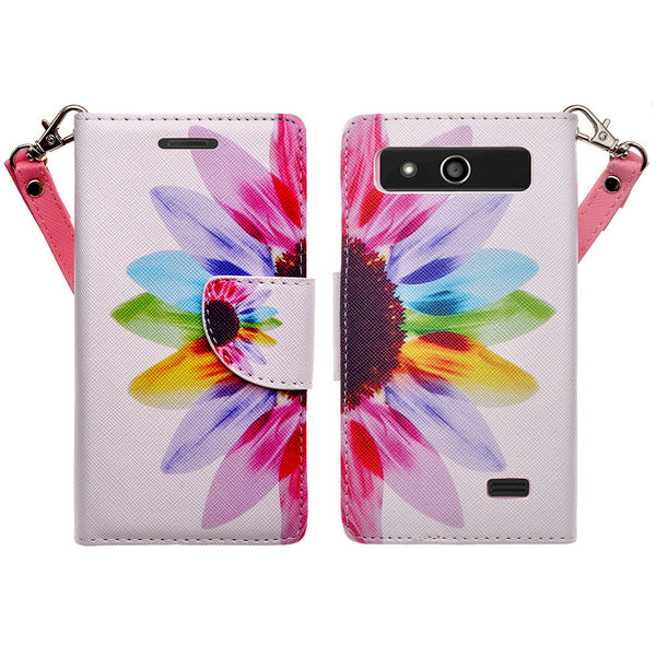 ZTE Speed leather wallet case - vivid sunflower - www.coverlabusa.com