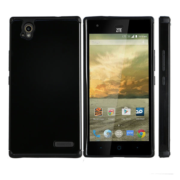 ZTE Warp Elite Slim Hybrid Dual Layer Case - Black - www.coverlabusa.com