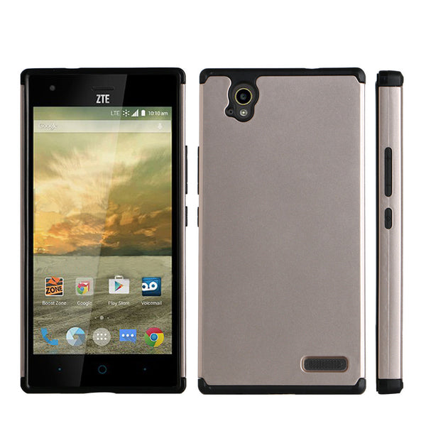 ZTE Warp Elite Slim Hybrid Dual Layer Case - Gold/Black - www.coverlabusa.com