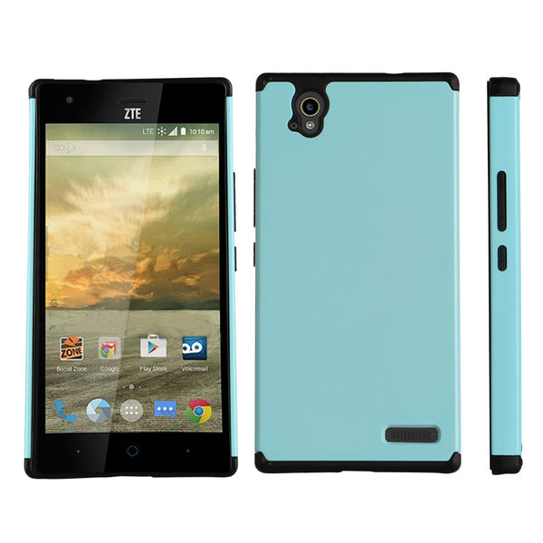 ZTE Warp Elite Slim Hybrid Dual Layer Case - Teal - www.coverlabusa.com