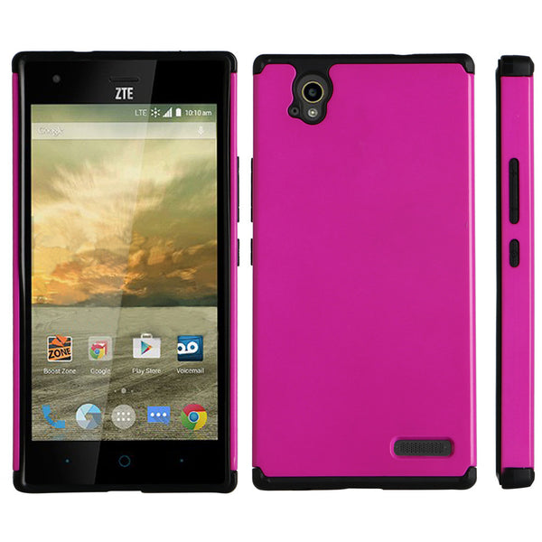 ZTE Warp Elite Slim Hybrid Dual Layer Case - Hot Pink - www.coverlabusa.com