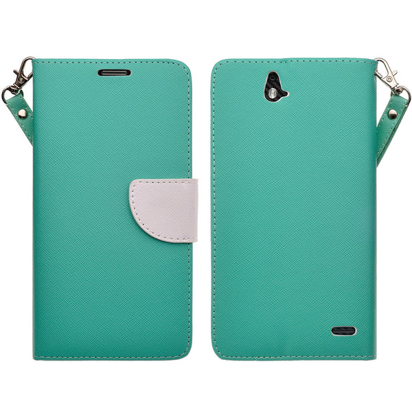 zte grand x max cover, zte z787 wallet case - Teal - www.coverlabusa.com
