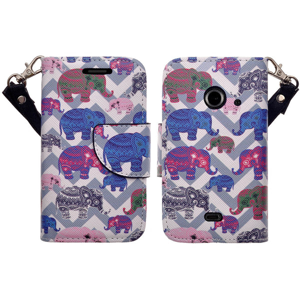 zte z667 cover, zte z667 wallet case - the elephant family - www.coverlabusa.com
