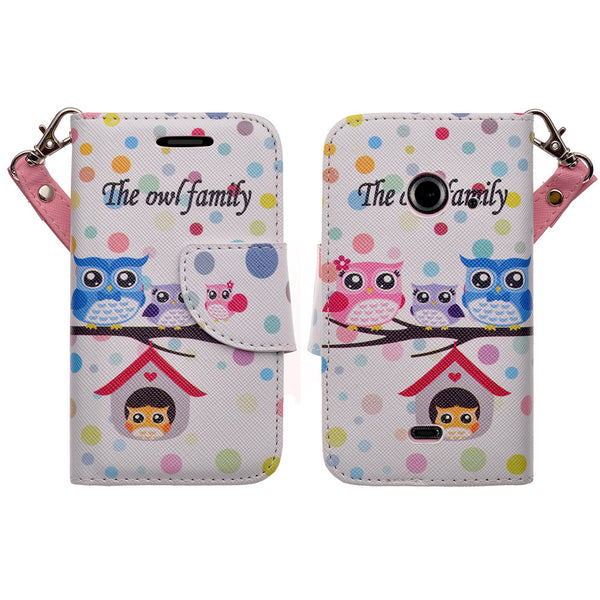 zte z667 cover, zte z667 wallet case - the owl family - www.coverlabusa.com