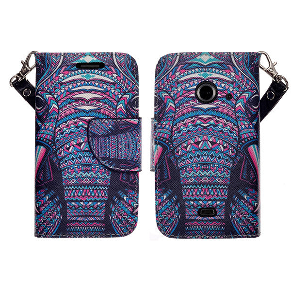 zte z667 cover, zte z667 wallet case - tribal elephant - www.coverlabusa.com