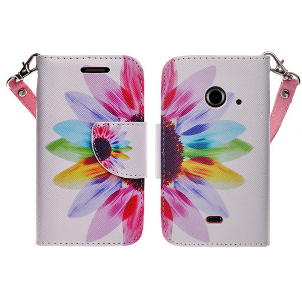 zte z667 cover, zte z667 wallet case - vivid sunflower - www.coverlabusa.com