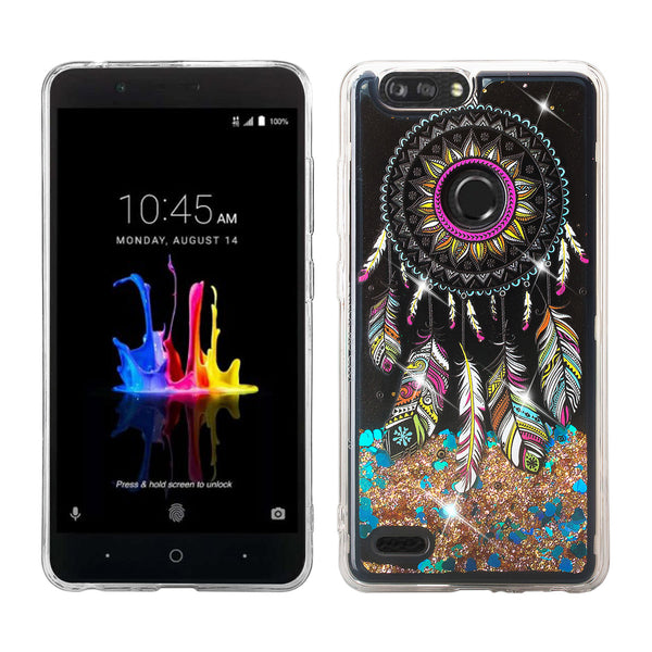 zte sequoia liquid sparkle quicksand case - dream catcher - www.coverlabusa.com