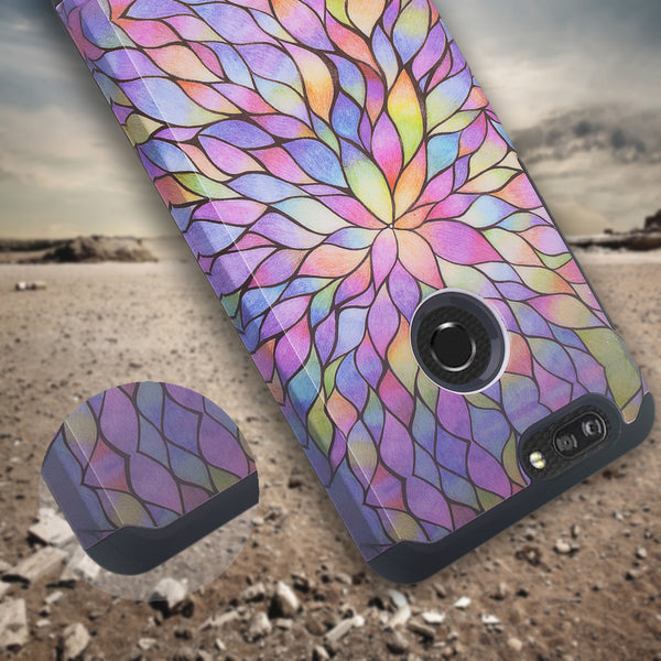zte sequoia hybrid case - rainbow flower - www.coverlabusa.com