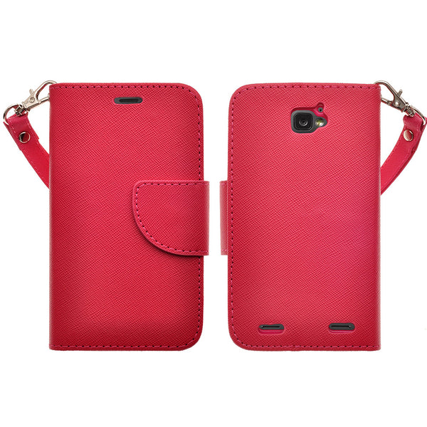 ZTE Zephyr leather wallet case - hot pink - www.coverlabusa.com
