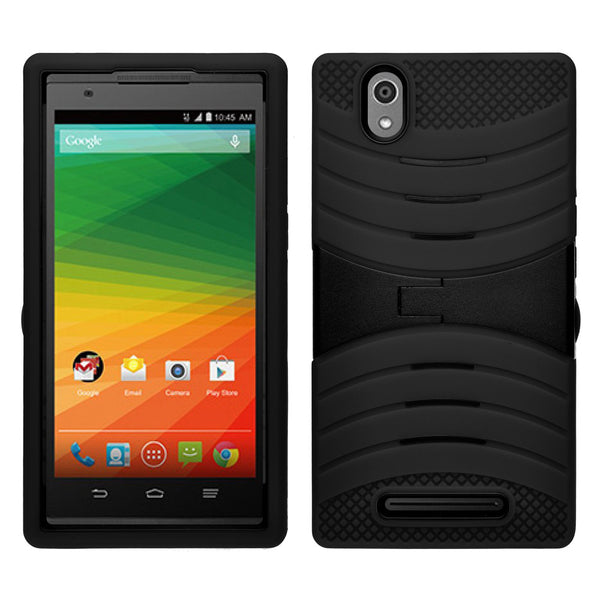 zte zmax heavy duty armor case - black - www.coverlabusa.com