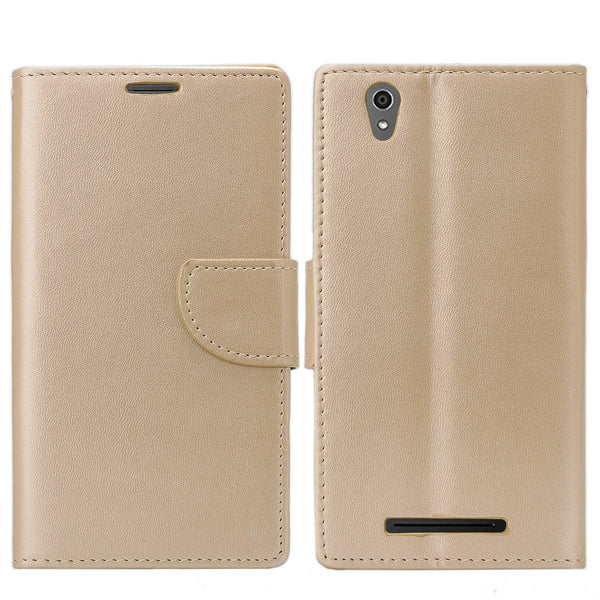 ZTE ZMAX leather wallet case - rose gold - www.coverlabusa.com