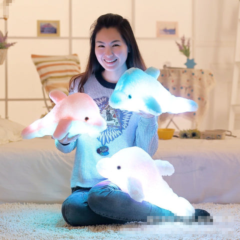 Dolphin Luminous Plush Pillow ☀Small, 18''☀ - KawaiiKoo